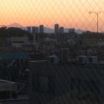 ダイシン ファミリーレストラン - 食堂から見えた富士山と大森の街並【その他】