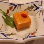 おにやまホテル - 先付は「からすみ豆腐」です。