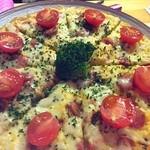 居酒屋 飛躍虎 - 当店人気NO2❗️卵生地の上にはポテトサラダととろけるチーズ。パーティメニューには欠かせません