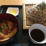 月の湯 - 料理写真:ざる蕎麦とかつ丼セット 880円→10割蕎麦使用