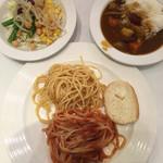 スイーツパラダイス - サラダ&カレー&冷製パスタ&ナポリタン