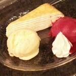 Dining urra - 贅沢セットはデザート3品セレクトできます