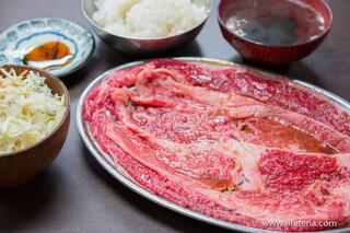 ホルモンまさる  - 焼肉定食(タレ)(ランチ)【2015年12月】
