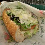サブウェイ - ローストチキン セサミ(焼)、野菜たっぷり、オイル&ビネガー 320円