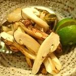 島津 - 松茸とアワビ