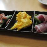 鰻家 - おつまみ三種