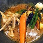 スープカレーlavi - こりこり肉付きヤゲン軟骨to野菜カレー(オリジナルスープ仕立て;3辛)(2015年12月)