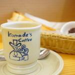 コメダ珈琲店  - カフェオーレ (¥440) 選べるモーニング C.名古屋名物おぐらあん