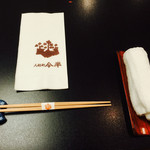 人形町今半 横浜高島屋店 - おしぼり・お箸~