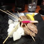 十方夷第 - 真狩さんハーブ豚ヒレ肉串焼き2串1000円×2