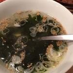 牛繁 - ワカメスープ