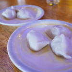 中国茶房8 - 水餃子ニラ150円と蟹味噌350円
