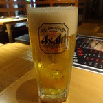 九楽々 - 生ビール:300円(ハッピーアワー)