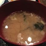 食堂みやもと - 味噌汁。