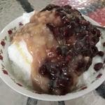 高雄婆婆冰 - 芋泥紅豆牛奶冰(70NT$≒約280円)
