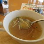 カフェ ド ヒラオカ - スープは中華には欠かせないフカヒレのスープでした。