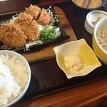 十兵衛うどん - 鉄板ヒレカツ定食+ミニうどん(1390円+100円)