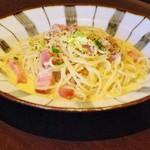 鎌倉パスタ - 厚切りベーコンとクルミのクリームパスタ・ゴルゴンゾーラ風味