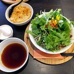 蕎麦DAYS - 肉ベジ冷つけ蕎麦(大盛)& 天カス & 温泉卵(2015年12月)