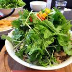 蕎麦DAYS - 肉ベジ冷つけ蕎麦(大盛)(2015年12月)