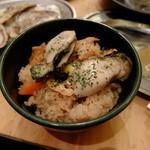 かき小屋フィーバー - 牡蠣ごはん 378円