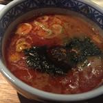 三田製麺所 - 辣油の辛味