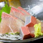 漁料理 やまね - カンパチの刺身定食 500円