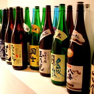 北海道の日本酒から各種地酒あります。