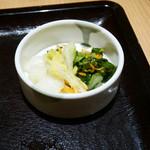 とんかつ 和幸 - 2015/12/23  お新香〜〜