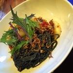 つるのIORIカフェ - 桐炭のパスタ