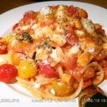 46092095 - スモーク・チーズのトマトスパゲティ 2015.8