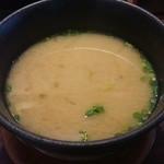 かね喜廻鮮寿司 - しじみの味噌汁