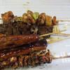 ほとめき市場 一太郎 - 料理写真:焼鳥は一本80円だったんでタレ焼きを5種類選んでました。