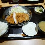 とんかつ 和幸 - 2015/12/23  ロース御膳+牡蠣フライ3個