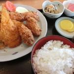 道の駅 オライはすぬま - ミックスフライ定食