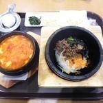 吾照里 - 石焼&辛ウマ スンドゥブチゲセット¥980