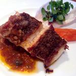 伊太利亜台所 - 真鯛のグリル ドライトマトのソース