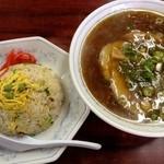 中華料理 一番 - ラーメン+半炒飯