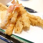 天ぷら 船橋屋 - 巻海老、キス、イカ、穴子