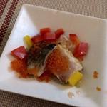 Koharu亭 - ☆1月のkoharuディナーシェフのおまかせコース料理☆  季節の前菜色々盛り合わせ〜  鯖と鰆?のカルパッチョ