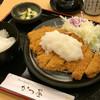 かつ屋 - 料理写真:塩ポン酢おろしロースかつ膳