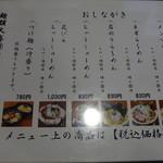 麺屋ばやし - 醤油メニュー
