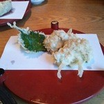 一玄 - 北海道産鱈の白子の天婦羅