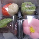 亀屋 - 上生菓子4点