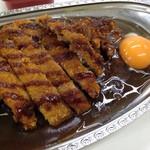 ゴーゴーカレー - ロースカツカレービジネス(790円)&生卵(50円)