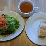 46117360 - ランチ サラダ、スープ