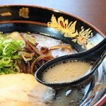 元祖中洲屋台ラーメン一竜  - スープ
