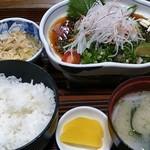 御食事処 あしずり - 「さばタタキ定食」(1,300円)