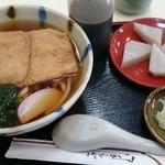 46120208 - きつねうどん+久寿餅のセット