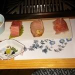 民宿 あそげん - 料理写真:前菜すでに肉祭り